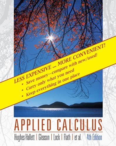 applied calculus deborah hughes hallett patti frazer lock andrew rh amazon com Applied Calculus Examples Applied Calculus Problems for Technology