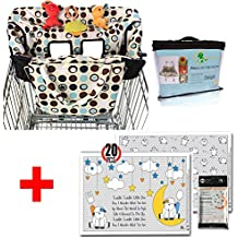 Crocnfrog Baby Travel Accessory for Shopping |Value Pack of Shopping Cart Cover & Disposable Placemats for Baby