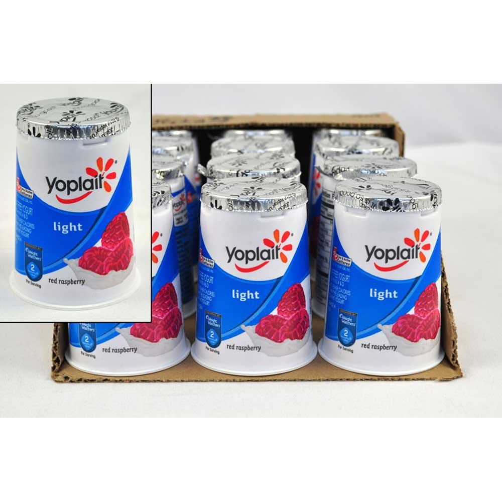 Yoplait Light Red Raspberry Yogurt, 6 Ounce - 12 per case. by General Mills (Image #1)