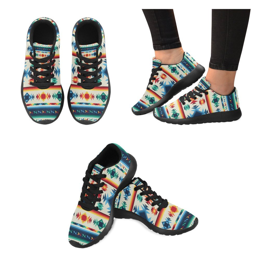 InterestPrint Aztec Tribal Pattern Print on Women's Running Shoes Casual Lightweight Athletic Sneakers US Size 6-15