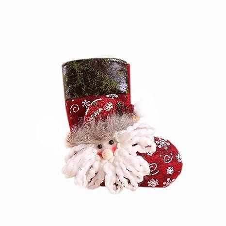 Hosaire 1X Decoraciones de Navidad de Calcetines Medias de Navidad Decoración Casa Colgando Árbol Decoración Regalos