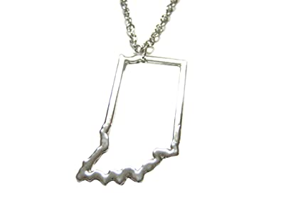 Amazon.com: Silver Toned Indiana State Map Outline Pendant Necklace on indiana state outline eps, indiana state flower, california state outline, indiana state geography, new orleans map outline, indiana outline vector, indiana state outline clip art, kentucky state shape outline, alabama map outline, tennessee map outline, mo state outline, indiana state highest point, columbian exchange map outline, ohio state outline, indiana state shape, indiana city outline, south florida map outline, houston map outline, cincinnati map outline, aztec empire map outline,