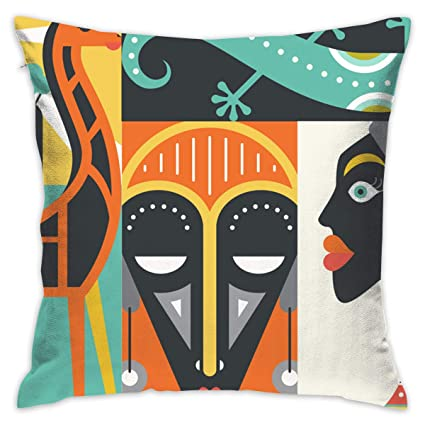 Amazon.com: EANTE Throw Pillow Covers-Africa Abstract Couch ...