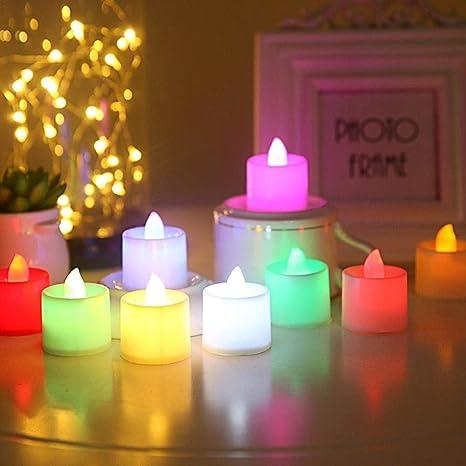 Velas Eléctricas Y Led 24Pcs Luz De Vela Sin Llama Con Pilas ...
