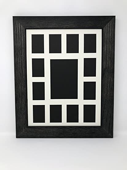 Amazoncom 12x16 175 Rustic Black Solid Wood Picture Frame With