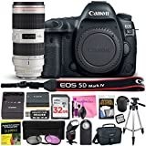 Canon EOS 5D Mark IV 30.4 MP Digital SLR Camera (Wi-Fi, GPS Enabled) PROFESSIONAL PHOTOGRAPHER Lens Kit with EF 70-200mm f/2.8L IS II USM Telephoto Zoom Lens & Premium Camera Works Accessory Bundle