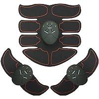 Happyear ABS estimulador Muscular Entrenador, EMS Body Muscle Trainer Portable Home Fitness Equipo de Entrenamiento para Abdomen Brazo Pierna Cintura para Hombres y Mujeres