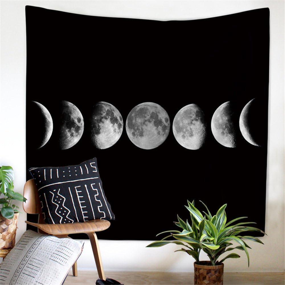 59x51inch Eclipse Lunaire, M//153x130cm Dremisland Tapisserie Tenture Murale Tissu de Nappe de Plage de Pique-Nique de Couverture pour la Chambre /à Coucher//Salon//Accessoires de Dortoir