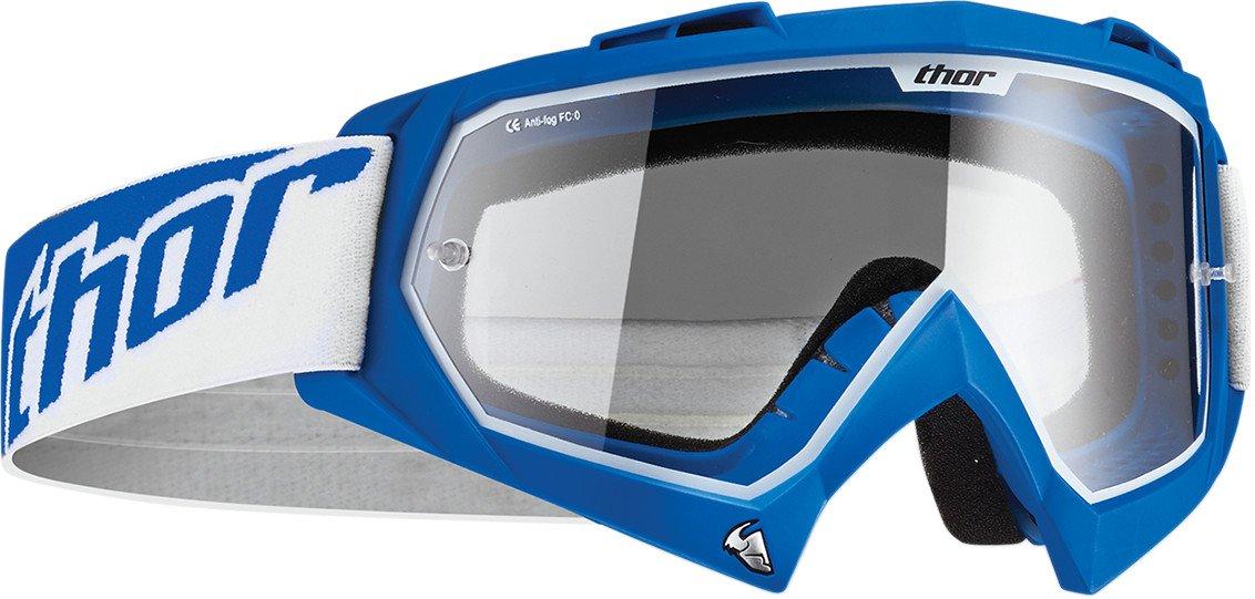 REFLEX BLUE OVER THE GLASSES Offroad MX Motocross 100/% ACCURI OTG Goggles