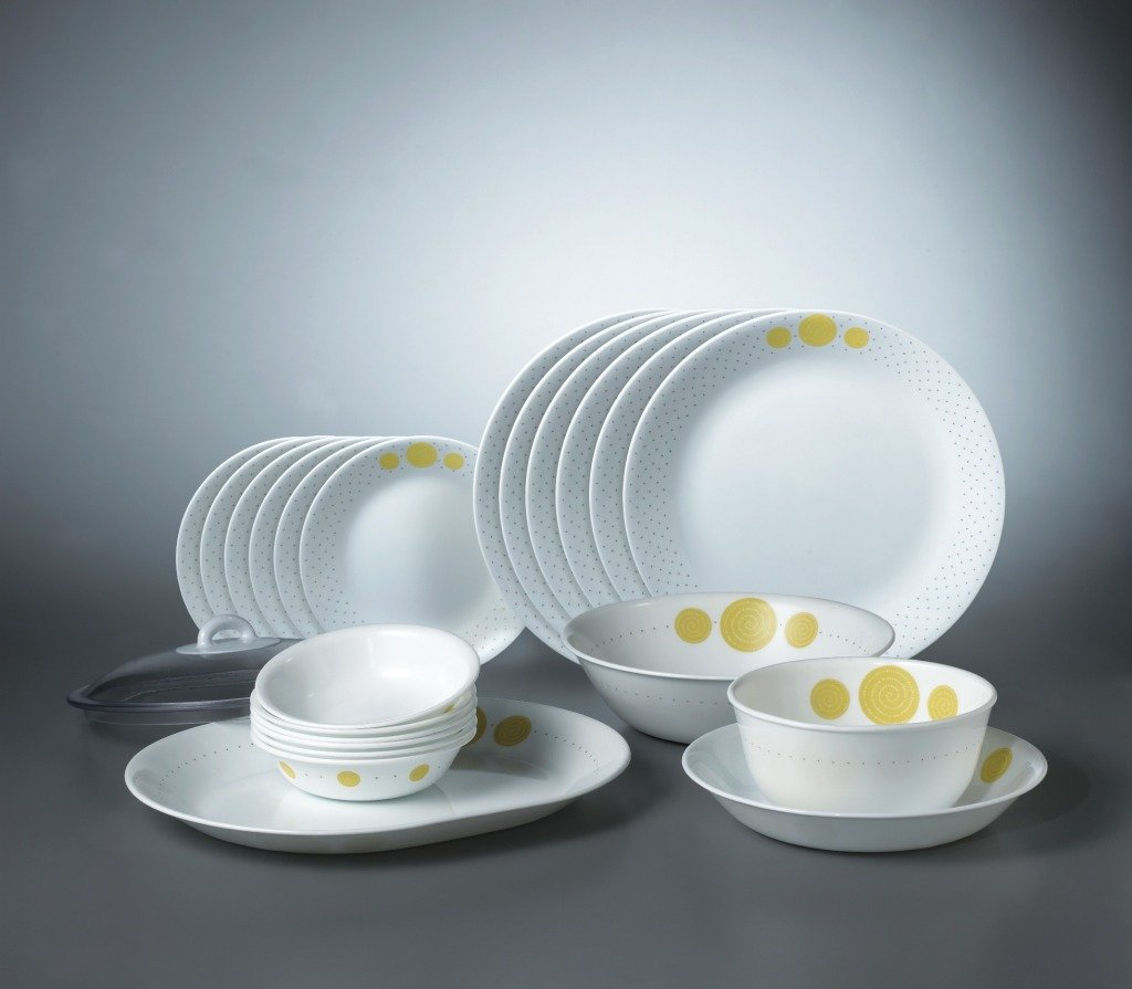 Buy Corelle India Collection Spiral Dinner Set, 21-Pieces Online at ...