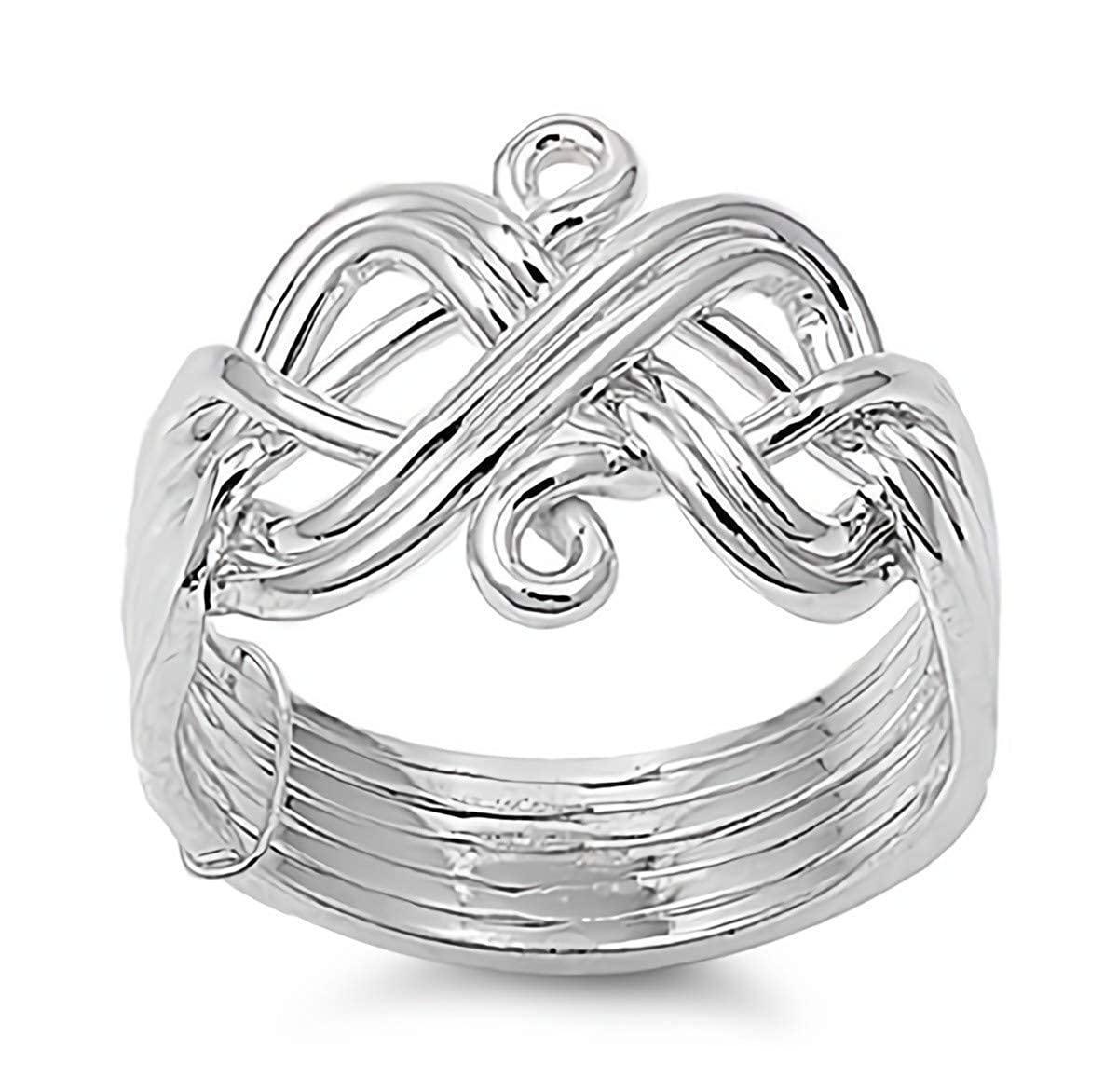 Glitzs Jewels 925 Sterling Silver Ring Cute Jewelry Gift for Women in Gift Box Angel
