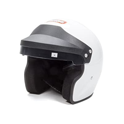 RaceQuip 253115 Gloss White Large OF15 Open Face Helmet (Snell SA-2015 Rated): Automotive
