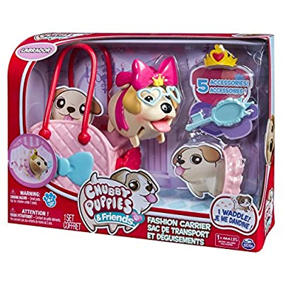 Chubby Puppies & Friends, Fashion Set with Carrier, Labrador: Toys & Games