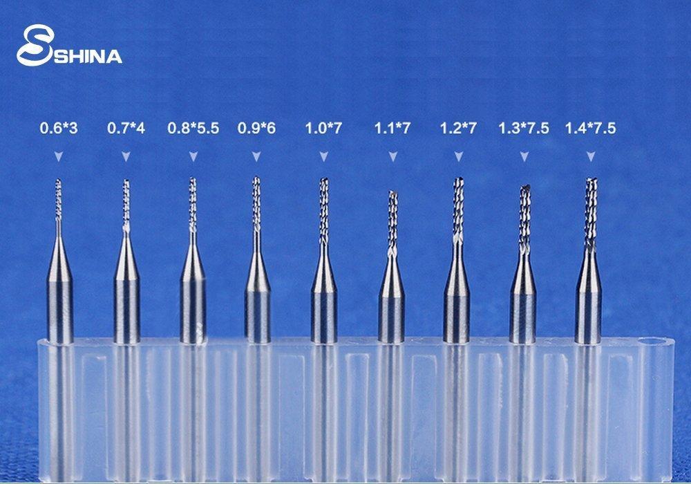 SHINA 10x 0.7mm NEW Carbide PCB rotary tool Jewelry CNC Drill Bits