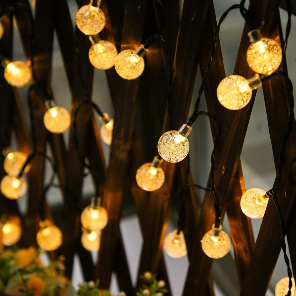 Garden Solar String Lights Outdoor Waterproof Solar-Powered Warm White 50LED