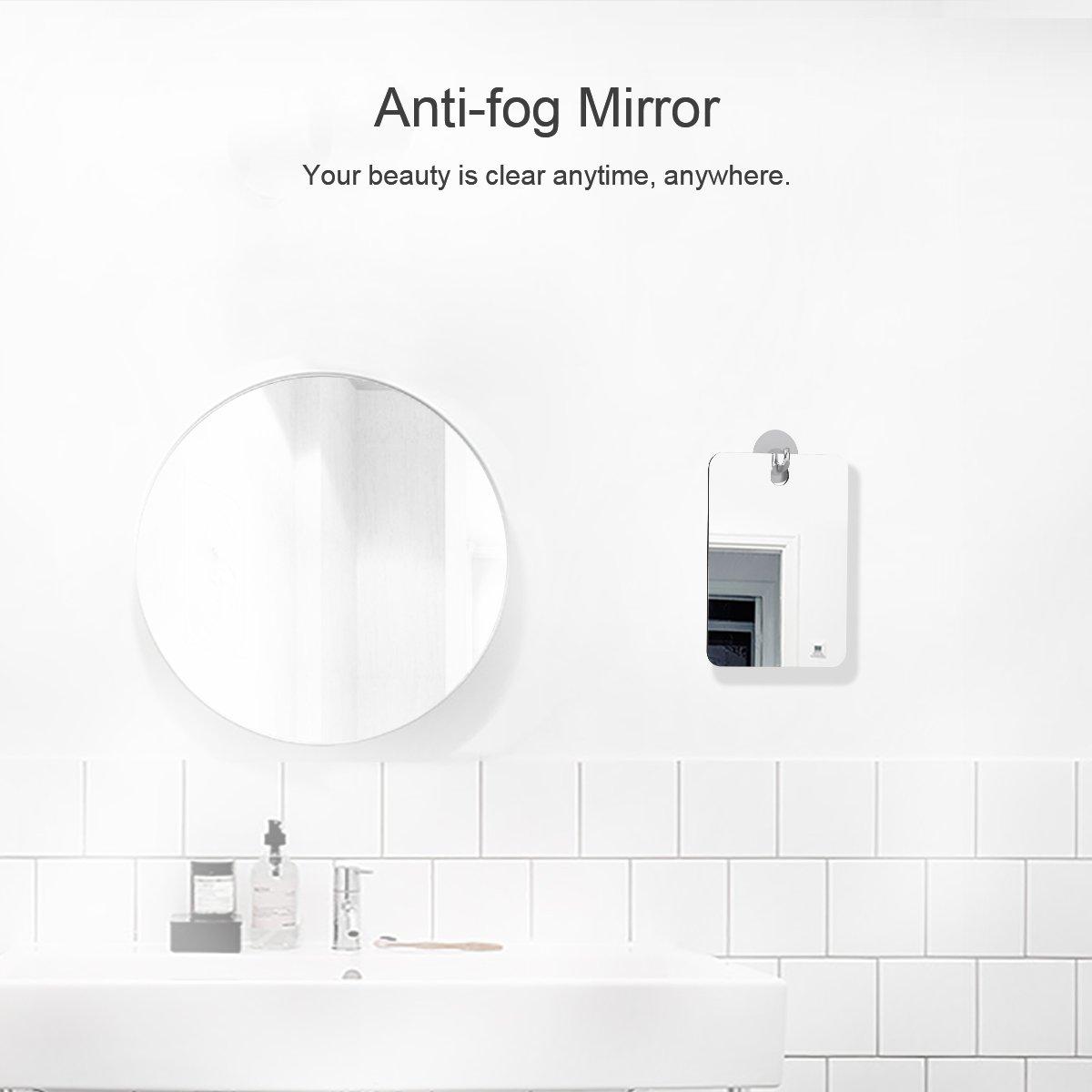 New Anti Fog Shower Mirror Bathroom Fogless Fog Free Mirror for Washroom  r6Tw