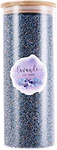 8 Cups Ultra-Blue Grade Culinary Lavender in Large Glass Bottle - Highland Grow Dried Lavender Flower Buds with Easy Resealable Huge Glass Bottle