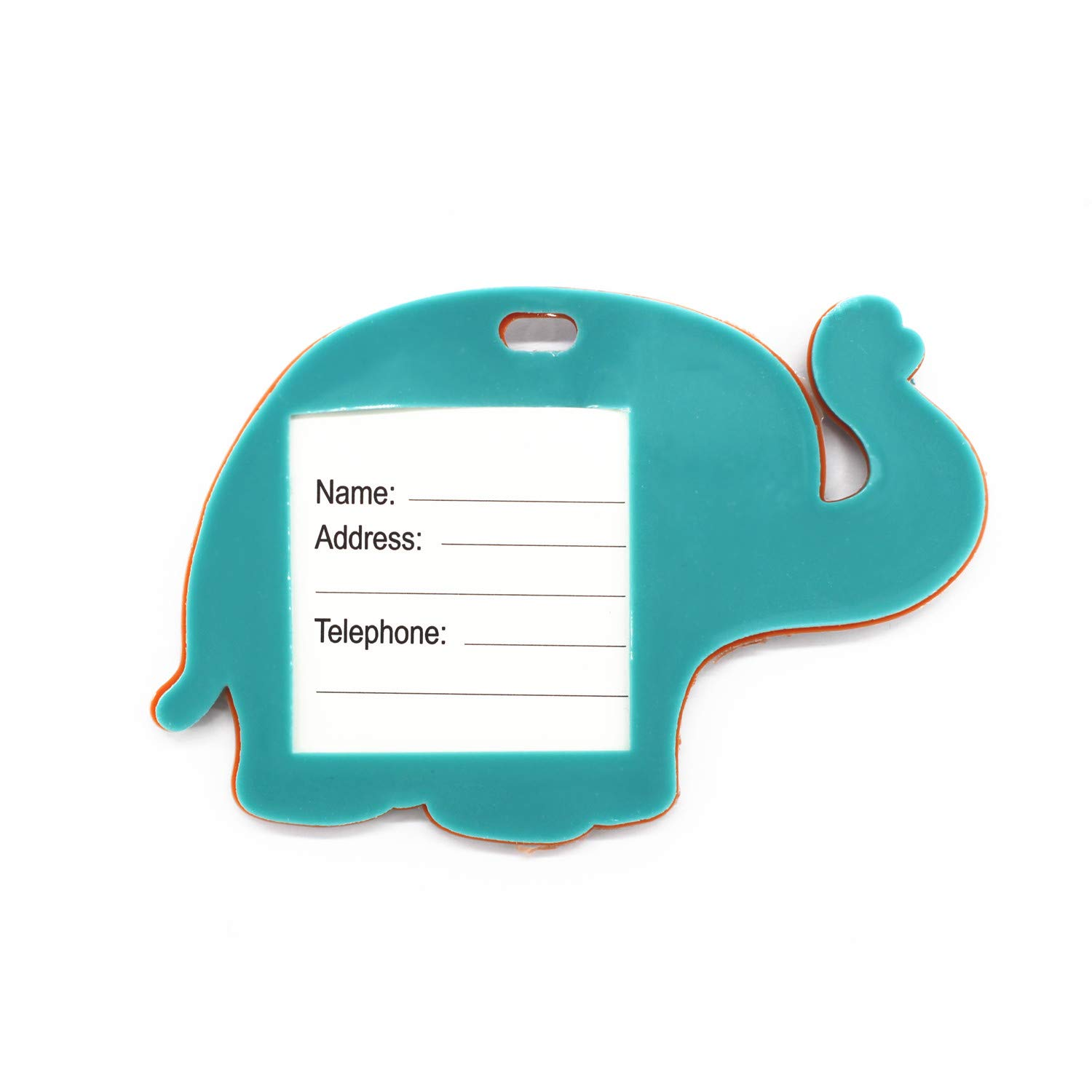 MIAO JIN 6 Pcs Elephant Luggage Tags Suitcase Luggage Tags Boarding Pass Luggage Tags