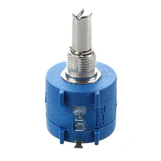 TOOGOO(R) 3590S-2-103L 10K Ohm Potenciometro de precision de herida de alambre giratorio de 10 vueltas: Amazon.es: Bricolaje y herramientas
