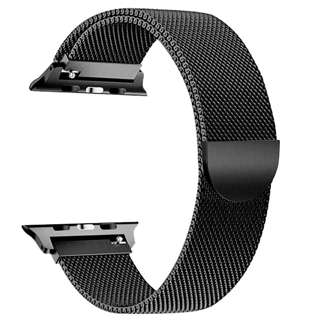 ACUTAS® Milanese Loop Stainless Steel Mesh Strap for Apple Watch iWatch Series 1/2/3/4 42MM 44MM (Black) (B07N1KX7NH) Amazon Price History, Amazon Price Tracker