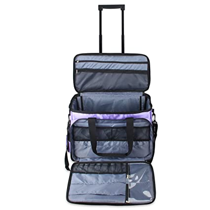 Amazon Luxja Rolling Sewing Machine Bag With Shoulder Strap And Best Sewing Machine Carriers With Wheels