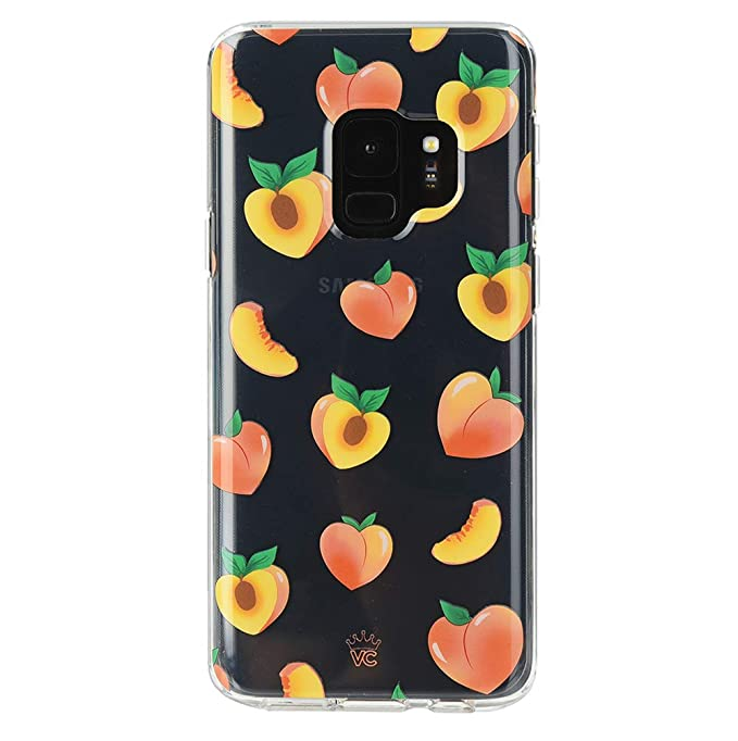 quality design f1a1c 962df Velvet Caviar Case Clear Peach Design Compatible with Samsung Galaxy S9 -  Cute Protective Phone Cases for Women Girls [Drop Test Certified Cover]