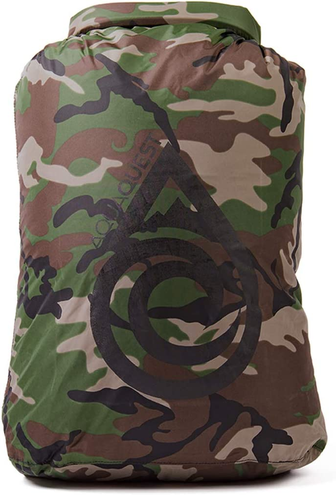 100 L Aqua Quest Rogue color camuflaje Bolsa seca