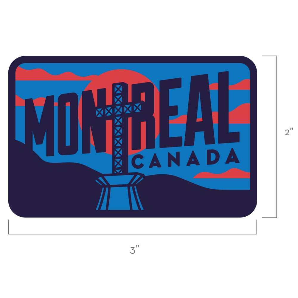Mount Royal Cross Montreal Quebec Canada Travel Patch