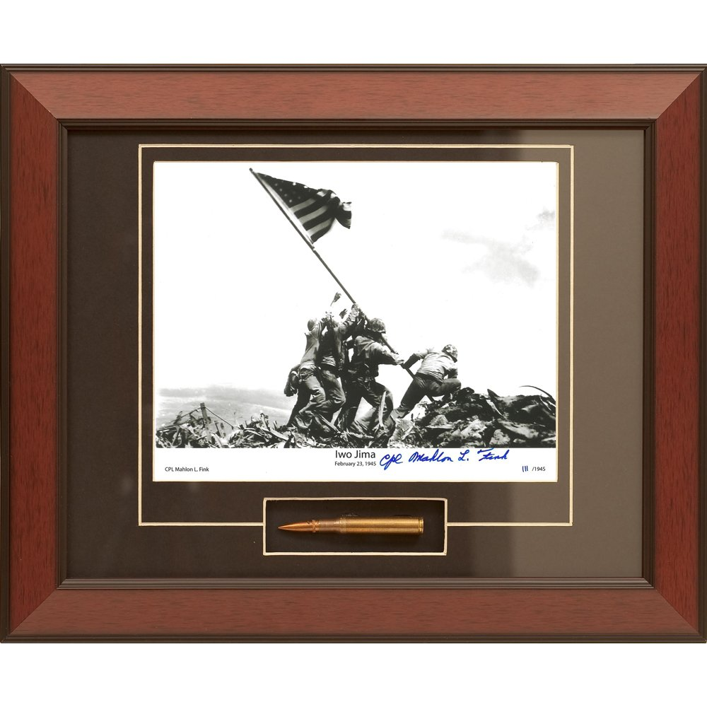 Century Concept Iwo Jima Framed Photograph Signed by Survivor Mahlon Fink by CENTURY CONCEPT
