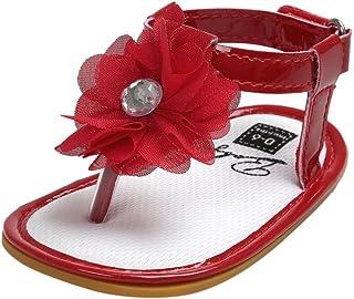 ❤️Chaussures de Bébé Sandales, Amlaiworld Été Bébé Sandales Perles Fleur Chaussures Princesse Filles Chaussures premiers pas Chaussures Enfant Pour 0-18 Mois (11/0-6Mois, Rose) Amlaiworld Bébé Chaussures