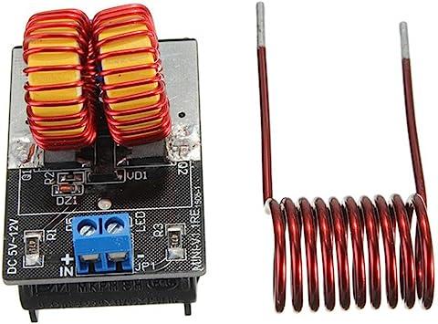DAOKAI® ZVS módulo de fuente de alimentación de calentamiento por inducción tesla escalera 5v-12v de Jacob 9v bobina: Amazon.es: Electrónica