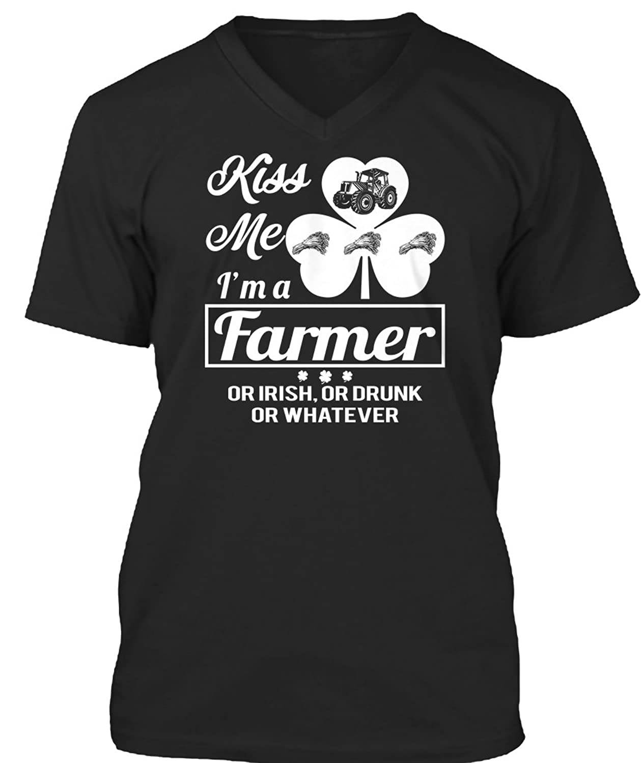 Teespring Unisex Kiss Me Im A Lineman Or Irish BELLACANVAS Premium Jersey V-Neck T-Shirt
