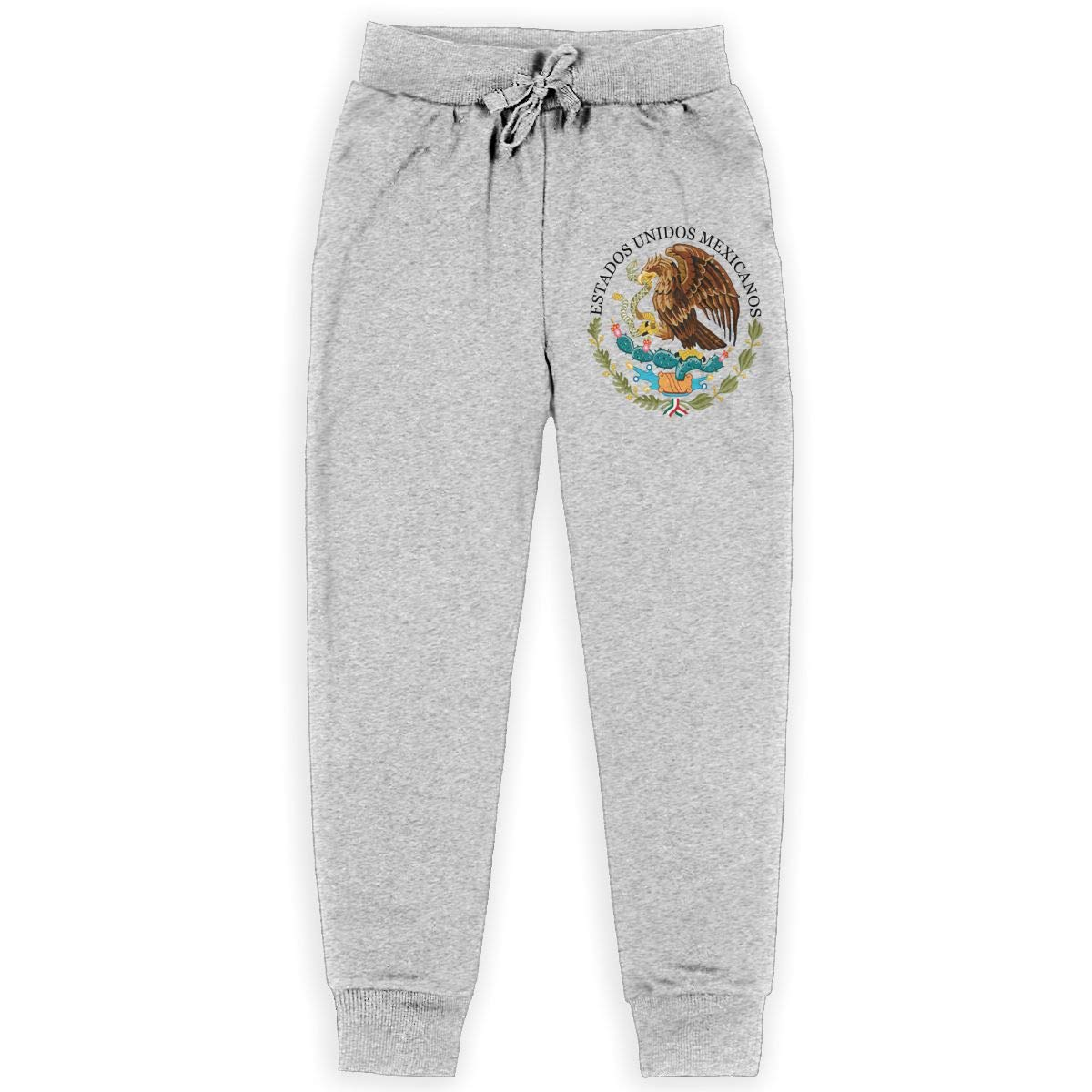 Fleece Active Joggers Elastic Pants Eagle Sweatpants for Boys /& Girls