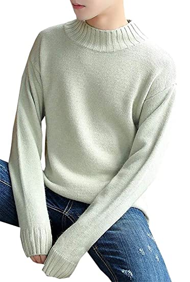 8c7d6628ad6 XQS Men s Vintage Long Sleeve Slim Fit Textured Knit Jumper Pullover Sweater  Tops at Amazon Men s Clothing store