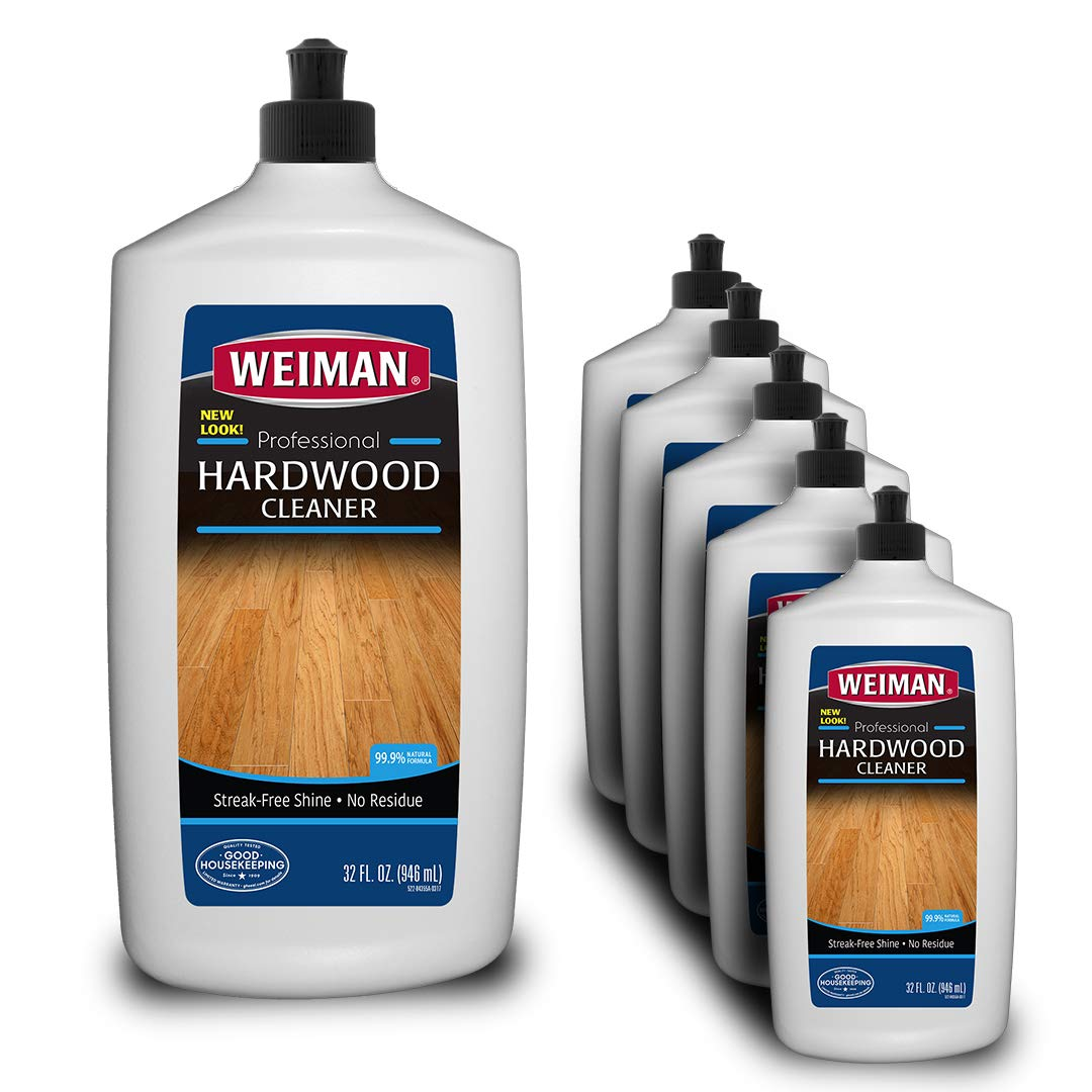 Weiman Hardwood Floor Cleaner - 32 Ounce [6 Pack] - For Hardwood, Finished Oak, Maple, Cherry, Birch, Engineered, and More - Professional, Safe, Streak Free