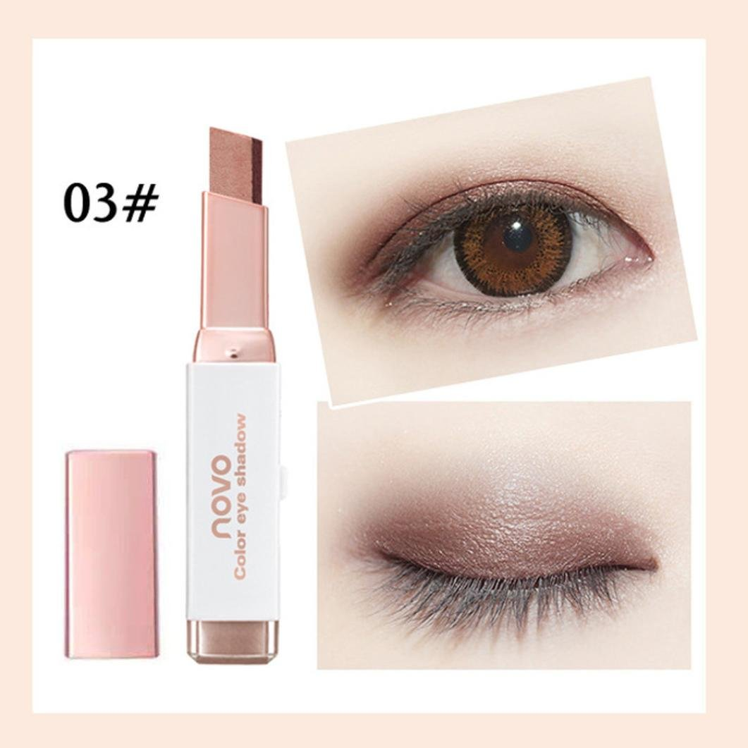 Pulison(TM) New Eye Cream Pen Gradient Two-Color Eye Shadow Stick Shimmer Palette (C)