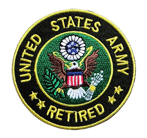 Us Army Retired Patch (United States Army Retired Logo Embroidered Iron on Patch Free Shipping)