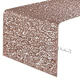 Pony Dance Premium Quality Sparkling Sequins Table Runner for New Year Party/Wedding/Banquet Decoration,14