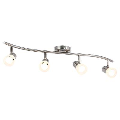 Buy Xinbei Lighting Track Lighting 4 Light S Shaped Track Light Bar With Glass Modern Kitchen Ceiling Light Bar Brushed Nickel Xb Tr1238 4 Bn Online In Kenya B0869hw76p