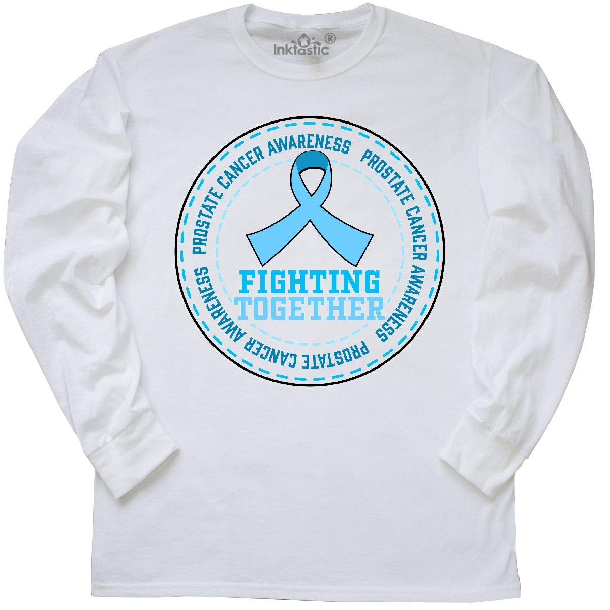 78e930d2 Amazon.com: inktastic - Fighting Together- Prostate Cancer Long Sleeve T- Shirt 32194: Clothing