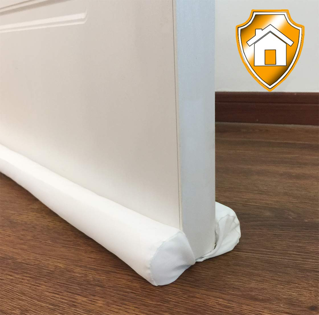 MAXTID Under Door Draft Blocker Black 32-38' Front Air Draft Stopper Reduce Cold Keep Heat in Window Breeze Blocker Adjustable