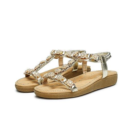 cf215ddaf7524 2018 Moda Sandalias Mujer Chanclas Verano Cómodos Zapatos Bohemias Las Sandalias  Planas