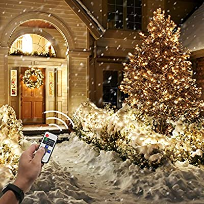 Led String Lights with RF Remote, PopBabies Dorm Lights 33ft 100 Led Lights for Bedroom Patio Indoor Outdoor, Waterproof Decorative Christmas Lights for Holiday Birthday Party Wedding UL Listed