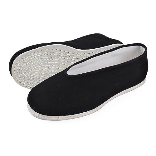 Laciteinterdite-Zapatillas Tradicionales Chinas deTai Ji, de Tela, diseño de Bruce Lee, Negro (Negro), 42: Amazon.es: Zapatos y complementos