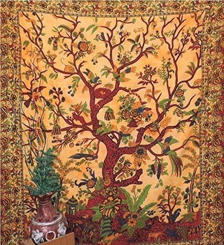Indian Mandala Tree Of Life Wall Hanging Tapestry Yoga Mat Throw Decor Ethnic