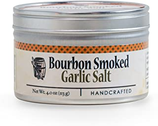 product image for Garlic Salt - Handcrafted Bourbon Smoked Salt Blended with Garlic - 4 Ounce Tin