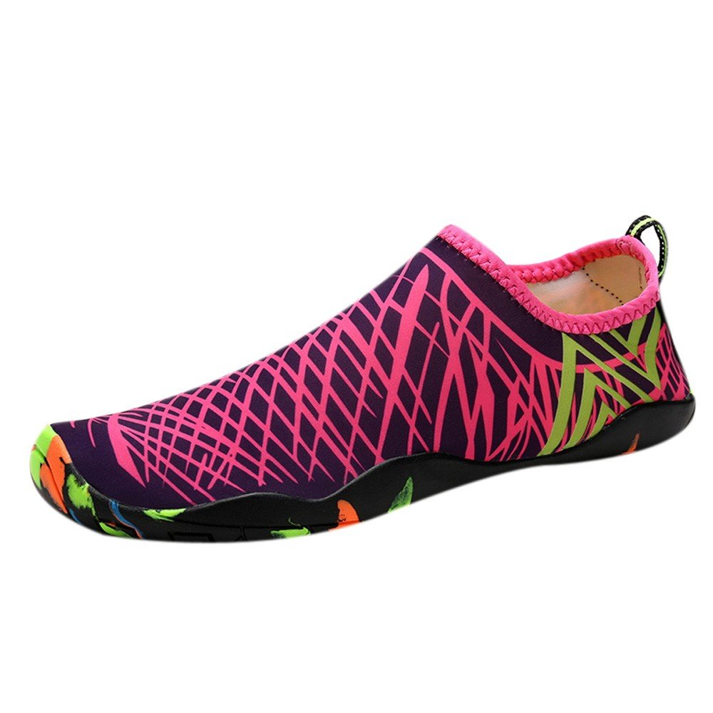 Clearance Sale Shoes,Farjing Unisex Outdoor Sport Shoes Diving Shoes Swimming Shoes Yoga Shoes Creek Shoes(US:6,Hot Pink)