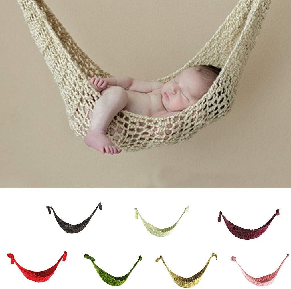 Republe Neugeborenes Baby-H/ängematte Fotografie Props Baby-H/änge Cocoon Foto Shooting Gestrickte h/ängendes Bett
