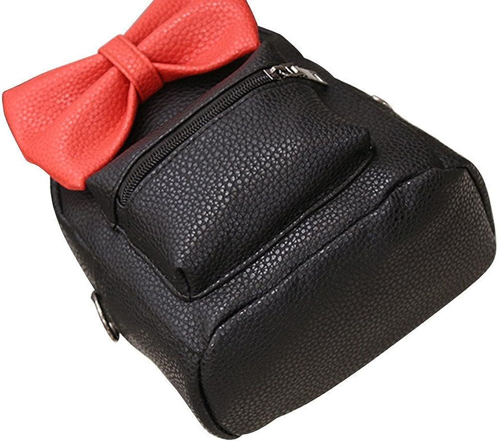 Lurryly Womens Backpack Mickey Female Pu Leather School Bags Teen Girls Bookbag