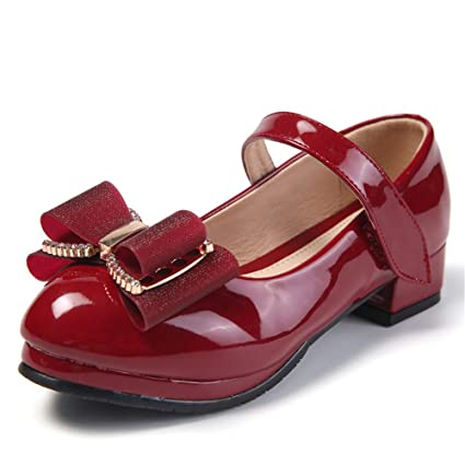 Niñas Zapatos de boda Niños Niños Dama de honor Prom Estilo de tiras Corte Zapato de